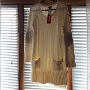 H&M Ivory Sweater Dress - New with tags